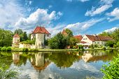 Blutenburg Castle In Munich, Germany. It Is An Old Landmark Of Munich City. Beautiful Panorama Of An poster