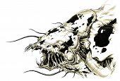 Постер, плакат: Страшно чужеродных чудовище