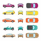 Different Transportation Car. Sedan Car, Hatchback, Universal Car, Suv, Cabriolet, Mini Car Set. Veh poster
