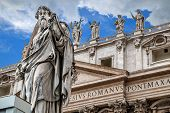 Sculpture Of Apostle Paul In Vatican. poster