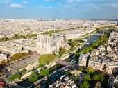 Notre Dame De Paris Or Notre-dame Cathedral Is A Medieval Catholic Cathedral In Paris, France poster