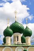 foto of uglich  - The green domes of russian orthodox church - JPG