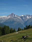 Summer Scene In The Canton Valais