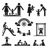 stock photo of seesaw  - Children play on playground - JPG