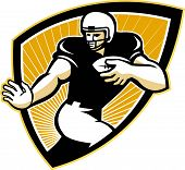 American Football Running Back Shield