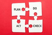 picture of plan-do-check-act  - Business workflow concept of plan do check and act - JPG