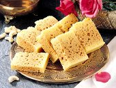 image of bangla  - Delicious Indian traditional rusk in golden plate - JPG