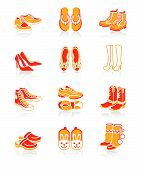 pic of mukluk  - Collection of typical casual sport and fashion footwear for all seasons - JPG