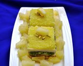 picture of barfi  - Delicious, fresh, and unique sweet, made with pineapple [[** Note: Shallow depth of field ** Note: Soft Focus at 100%, best at smaller sizes - JPG