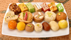picture of mithai  - A group of delicious - JPG