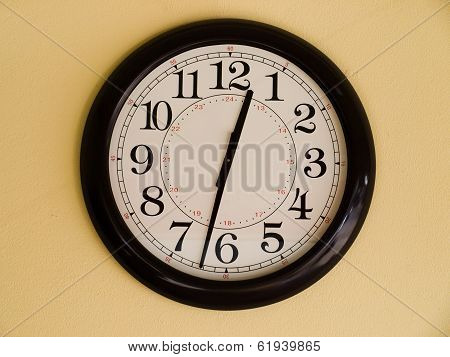 Brown Clock poster