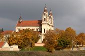 pic of archangel  - Vilnius archangel church on the board river Neris - JPG