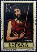 SPAIN - CIRCA 1979: A stamp printed in Spain shows Ecce Homo painting by Juan de Juanes circa 1979