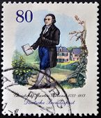 GERMANY - CIRCA 1983: A stamp printed in Germany shows Christoph Martin Wieland circa 1983