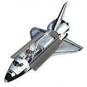 stock photo of starship  - Space Shuttle On White Background - JPG