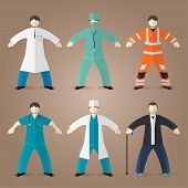 Постер, плакат: Professions set of medical doctors