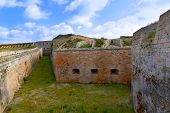 pic of mola  - Menorca La Mola Castle fortress wall in Mahon at Balearic islands - JPG