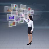 Businesswoman Presenting Business Graph