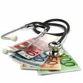 Stethoscope And Bank Notes