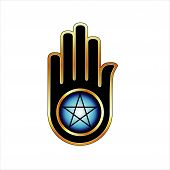 picture of pentacle  - Hand with a Pentacle - JPG
