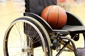pic of paralympics  - A Basketball on a wheelchair basketball game - JPG