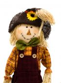 picture of scarecrow  - A scarecrow isolated on a white background autumn scarecrow - JPG