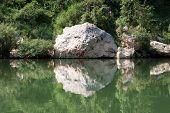 picture of ou  - Landscape river Nam Ou in Laos between Muang Khoua and Muang Ngoi Neua - JPG