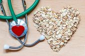 picture of oats  - Dieting healthcare concept - JPG