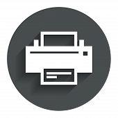 Постер, плакат: Print sign icon Printing symbol