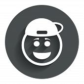 picture of rapper  - Smile rapper face sign icon - JPG