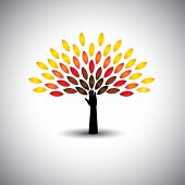 stock photo of sustainable development  - colorful tree of life  - JPG