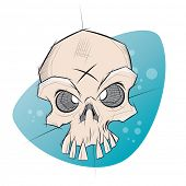 pic of creepy  - creepy skull in sketchy style - JPG