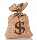 stock photo of money prize  - Money bag - JPG