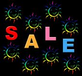 stock photo of youngster  - Kids Sale Meaning Promotion Sales And Youngster - JPG