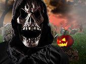 image of reaper  - Grim reaper on graveyard - JPG