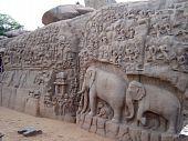 stock photo of arjuna  - Arjuna Penance - JPG
