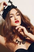 foto of birthmark  - The beautiful young woman - JPG