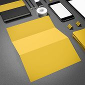 stock photo of 3d  - Template business for branding - JPG