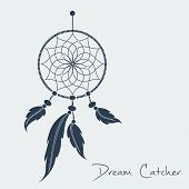 picture of dream-catcher  - vector dream catcher black - JPG