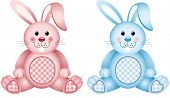 picture of baby doll  - Scalable vectorial image representing a baby bunny pink and blue - JPG
