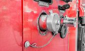 foto of fire brigade  - image of Fire truck close up equipment - JPG