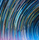 stock photo of north star  - image of Long exposure star trails  - JPG
