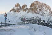 pic of south tyrol  - Face of mount Langkofel  - JPG