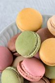 picture of french pastry  - Delicious Macarons French Pastry Cookies with Cream - JPG