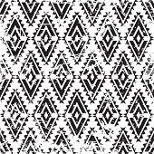 pic of aztec  - Vector tribal ornament grunge seamless pattern - JPG