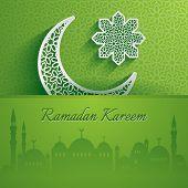 pic of ramadan mubarak card  - Ramadan Kareem - JPG