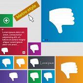 stock photo of dislike  - Dislike Thumb down Hand finger down icon sign - JPG