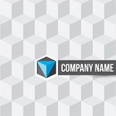 picture of cube  - Cube company logo on cubes seamless pattern background - JPG