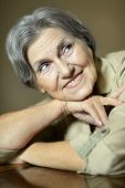 picture of beautiful senior woman  - Portrait of a cute beautiful senior woman - JPG