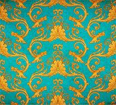 picture of wallpaper  - Vector illustration of old vintage victorian ornate wallpaper  - JPG